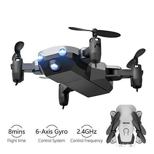 Kyerivs Faltbaren Mini Drohne 2.4GHz 6-Achsen-Gyro RC Quadrocopter die Beste Wahl für Kinder und Anfänger