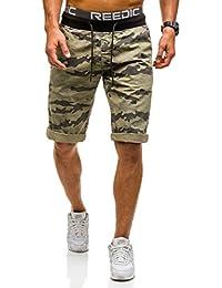 BOLF Herren Shorts Bermudas Kurzhose Fitness Jogginghose Sporthose Motiv Treining Sommer Men's Camo Militär Top Camouflage Mix