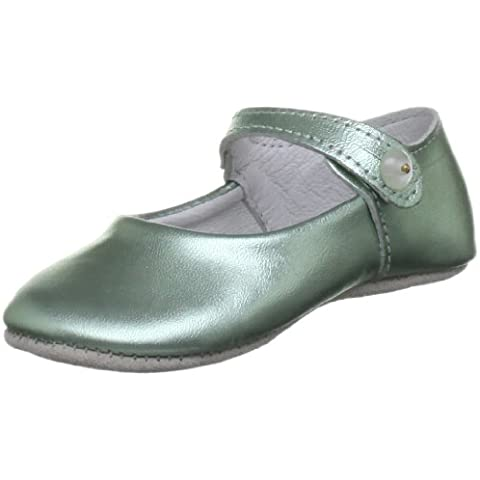 Rachel Riley - Ballerine Metallic Button Strap Slippers Rrshoe1ame, Bambina