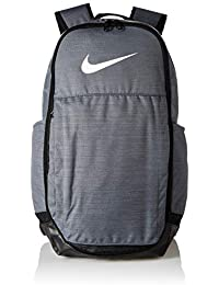 188e93060346 Nike 25 Ltrs Flint Grey Black White School Backpack (BA5331-064)