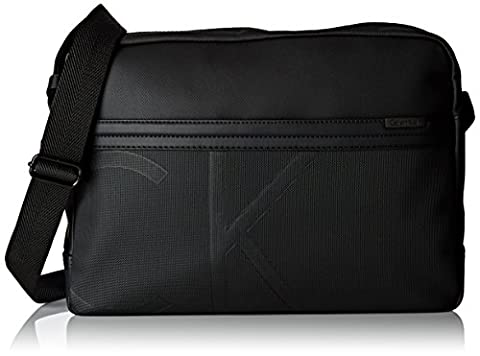 Calvin Klein GREG0RY Messenger, Sac Homme, Noir (Black), 9x27x38 cm