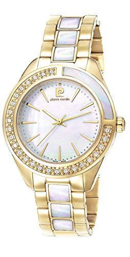 Pierre Cardin Neuilly Women's Quartz Watch with Mother Of Pearl Dial Analogue Display and Gold Stainless Steel Bracelet PC106832S11
