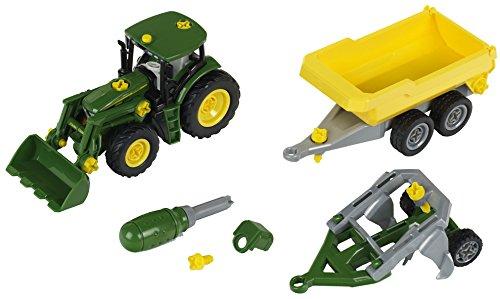 klein-3904-tracteur-monter-john-deere-avec-benne-basculante-et-charrue