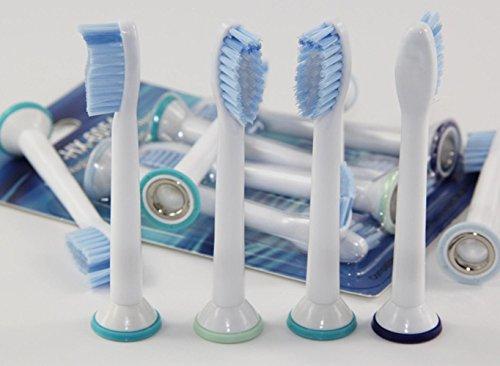 Lot de 20 (5 x 4) Têtes de remplacement Kit hofoo® pour brosse à dents PHILIPS Sonicare Sensitive (HX 6054). Compatible avec les modèles de brosses à dents électriques Philips complet : DiamondClean, FlexCare, FlexCare Platinum, FlexCare (+), HealthyWhite, 2 Series, EasyClean et PowerUp Brosse à dents électrique