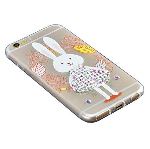 Custodia iPhone 7 Plus TPU, Case Cover per iPhone 7 Plus in TPU,Bonice iPhone 7 Plus Bling Diamante Morbido Ultra Thin Rubber Case Cover iPhone 7 Plus 5.5 inch (elefante) medol 2