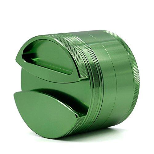 BBYaki Advanced Tobacco / Perfumer Grinder-75 * 60Mm, 4-Teilige Aluminiumlegierung Schleifer, 6 Farben, Leicht Zu Transportieren , Green (Schleifer Für Weed Green)
