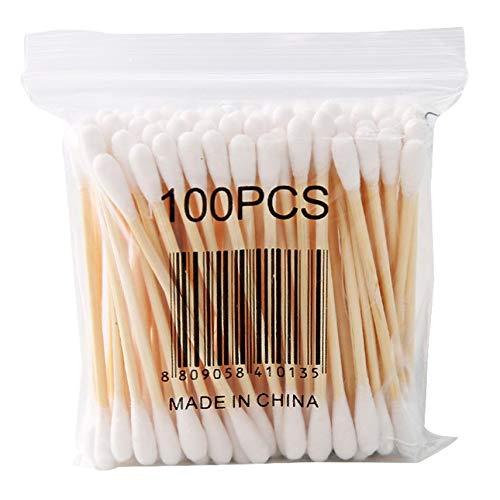 oft Bag Holzstab doppelköpfiger Baumwolltupfer Sanitary Swab Beauty-Stick ()