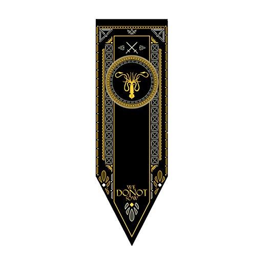 Ihomepark Game of Thrones Bandera Juego de Tronos Casa Tournament Wall Banner Flag Sigil 45*150cm House Greyjoy
