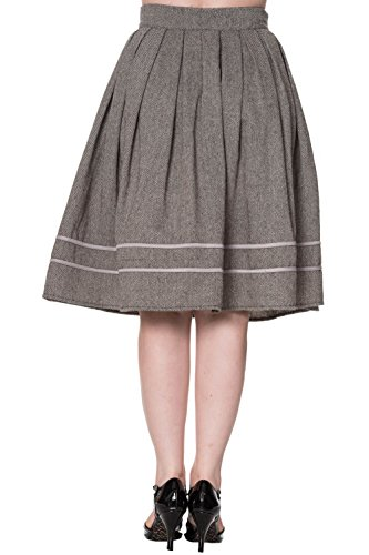 Dancing Days by Banned Rock IZZY SWING SKIRT 2189 Grey