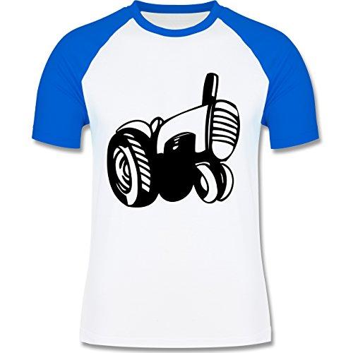 Andere Fahrzeuge - Traktor - zweifarbiges Baseballshirt für Männer Weiß/Royalblau