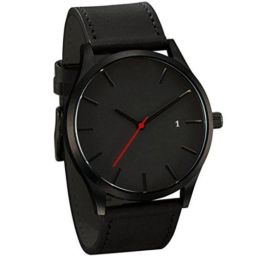 Reloj con correa de cuero, estilo minimalista, reloj de pulsera de cua