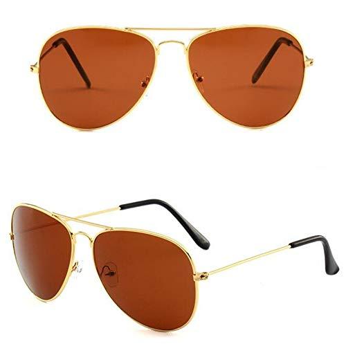 MOJINGYAN Sonnenbrillen Sonnenbrille Weiblichen Aviator Style Weiblichen Retro Fashion Braun Sonnenbrille Metallrahmen Bug Sonnenbrille Frauen
