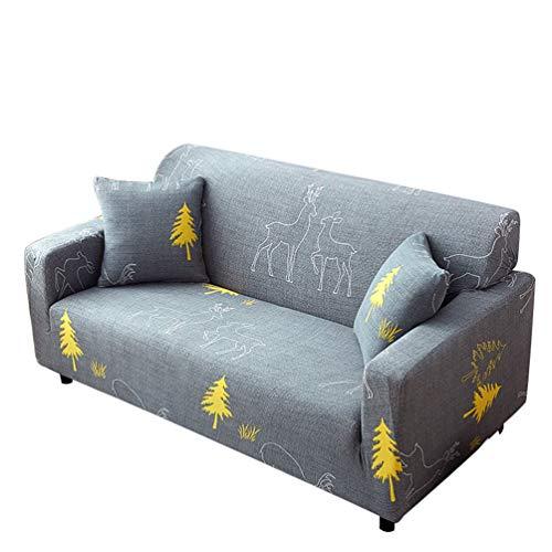 Runyue Sofa Überwürfe Sofabezug Sofaüberwurf Stretch Elastische Sofahusse Sofa Abdeckung In Verschiedene Farbe Stil 24 3 Sitzer(190-230CM)
