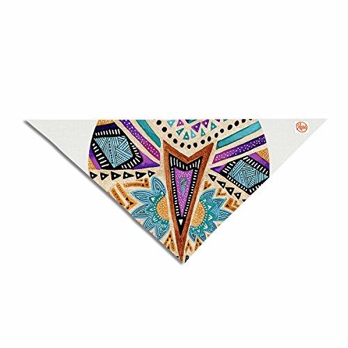 """Kess eigene Pom Graphic Design """"Multikulturelle Icon"""" Blaugrün Gold Abstrakt Geometrische Hundehalstuch, 71,1x 50,8x 50,8cm"""