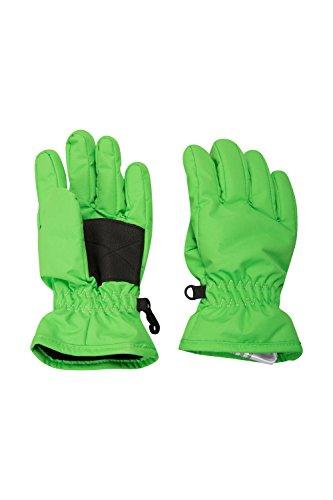 Mountain Warehouse Skihandschuhe für Kinder - Schneedichte Skifäustlinge, elastische Bündchen, warm, schneedichte Handwärmer, Fleecefutter, bequem - Hält Hände warm Grün Large