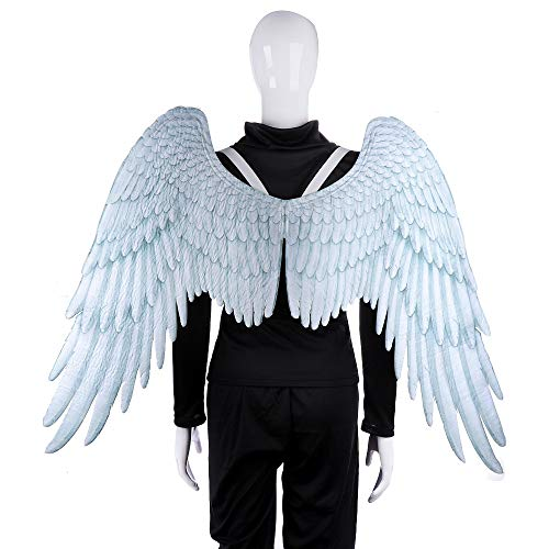 BaronHong Halloween Karneval Kostüm Cosplay 3D Engelsflügel für Erwachsene (weiß, ()