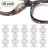 ANDERK 20 Paia Naselli Per Occhiali Da Vista Cuscinetti Anti-scivolo Adesivo Morbido Silicone Occhiali Naso Fermaocchiali per Occhiali da Vista Occhiali da Sole Occhiali