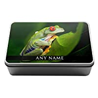Personalised Tree Frog Animal Metal Storage Tin Box 306