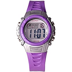booRah® Digiz DIG5P Childrens's Purple Digital Watch