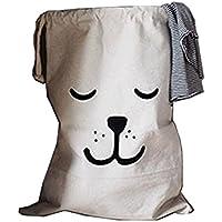 lubier Wow wow-dog Picture Sac de Toile Collection de linge sale des articles recogen les dangers
