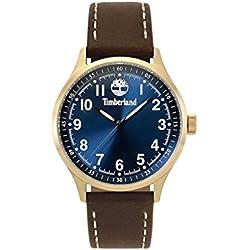 f911b15a62d8 Timberland Reloj Analógico para Hombre de Cuarzo con Correa en Cuero  TBL15353JSK.03