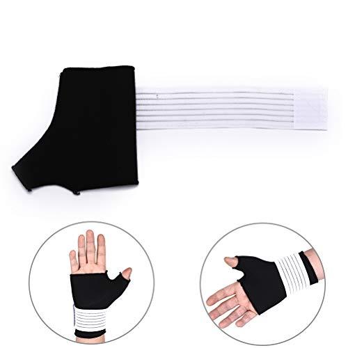 AOWA 1 Stück Polyester Faser Daumen Wrap Hand Palm Handgelenkstütze Unterstützung Arthritis Relief Handschuhe Ärmel (Arthritis Daumen-unterstützung)