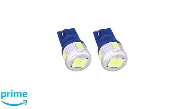T10C6B - Blue Canbus lamp light bulb side lights W5W T10 12V