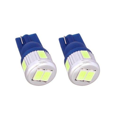 T10C6B - Bleu Canbus SMD LED lampe ampoule de rechange feux de position W5W T10 12V 6 LED SMD éclairage de plaque d'immatriculation éclairage intérieur (pas d'erreur)