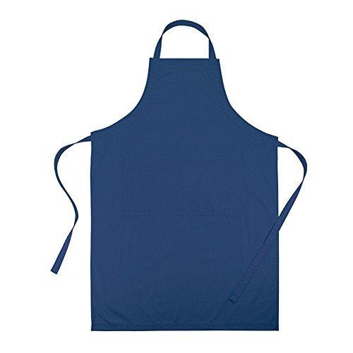 Cucina Sana Küchenschürze - Grillschürze für Männer und Frauen, Schürze mit verstellbarem Nackenband und 2 Taschen (blau)