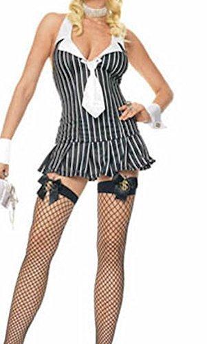 Kostüm Gangster Erwachsene Sexy Für - Damen Sexy 3 Stück Gangster / Lehrer / Sekretär-Kostüm Größe 38 Kleid / Krawatte und Bündchen