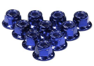 Integy RC Modélisme Hop-ups C24435BLUE Color Flanged Lock Nut (10) 5mm Size