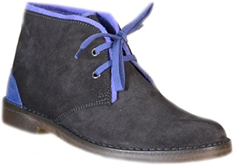 Cafènoir - Cafènoir Zapatos Hombre Azul Cuero TDT600 - Azul, 36