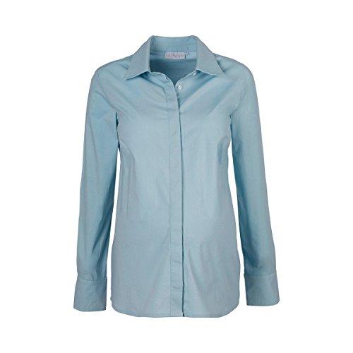 2HEARTS La blouse de grossesse et d'allaitement Easy Business chemisier de grossesse chemisier de grossesse, taille 42, Light Blue Angel Falls