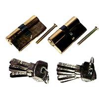 2 er Sicherheits Schließzylinder Tür Schloß Set 70mm+ 10 Schlüssel Gleichschließend
