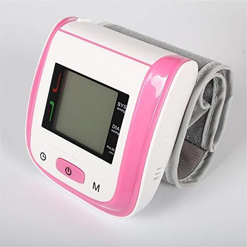 Handgelenk-Blutdruckmessgerät, Digitales Blutdruckmessgerät für den Heimgebrauch mit Puls-und Herzfrequenzmessung, 2 Benutzermodus für Gesundheitsüber Wachung mit (mehrfarbig optional),Pink