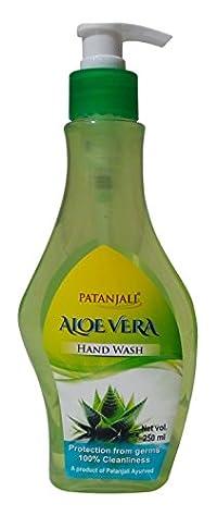 Patanjali Hand Wash - Aloe Vera, 250ml Bottle