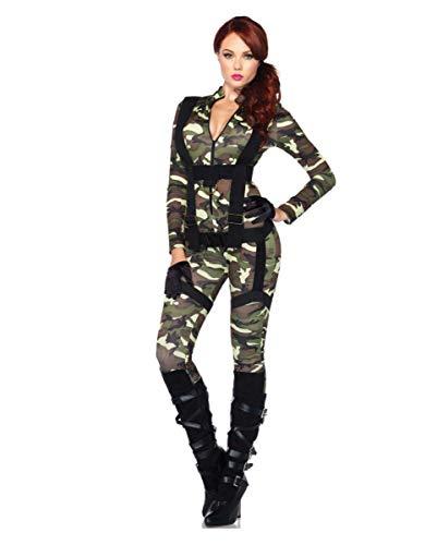 Horror-Shop Sexy Camouflage US Army Fallschirmjägerin Kostüm für Damen - Us Fallschirmjäger Kostüm