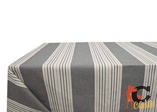 Nappe en coton fantaisie righine 140x140 gris
