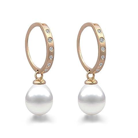 Original mcpearl Diamant Perles Boucles d'Oreilles. Top qualité de la manufacture.