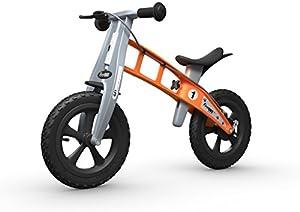 FIRSTBIKE - Bicicleta de Equilibrio con Freno, Modelo Cross, Color Naranja (L2018)