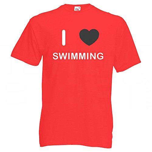 I Love Swimming - T-Shirt Rot