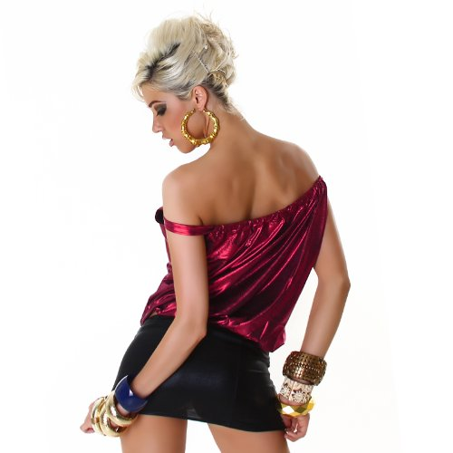 Top Shirt Trägertop Leder-Wet-Look Einheitsgr. 36,38,40,42 - verschiedene Farben Pink