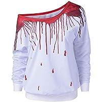 Damen T Shirt,Geili Frauen Langarm Wassertropfen Print Pullover Bluse Damen Herbst Beiläufige Lose Schulterfrei... preisvergleich bei billige-tabletten.eu