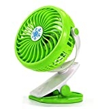 Yooogaxiiy Ventilador de Escritorio Personal Portátil Mini Enfriador Stepless Velocidad Bidireccional Rotativo 360 Grados Ventilador