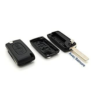 Schutzhülle Funk Autoschlüssel Fernbedienung 2Knopf Citroen C1C2C3C4C5C8mit Rille