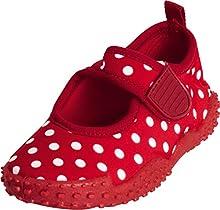 Playshoes Calzature da Mare con Protezione UV Punti, Scarpe da Acqua Bambina, Rosso Rot 8, 22/23 EU