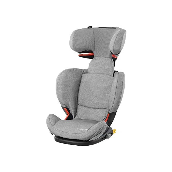 Maxi-Cosi RodiFix AirProtect Child Isofix Extra Protection Booster Car Seat, Nomad Grey, 15 - 36 kg, 3.5 - 12 Years Maxi-Cosi Booster car seat for children from 15-36 kg (3.5 to 12 years) Grows along with your child thanks to the easy headrest and backrest adjustment from the top Patented AirProtect technology for extra protection of child's head 1