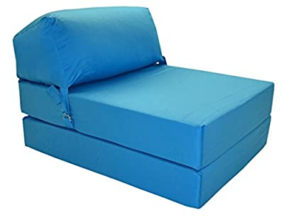 JAZZ CHAIRBED - AQUA BLUE Deluxe Single Chair Bed ... - inexpensive UK light shop.