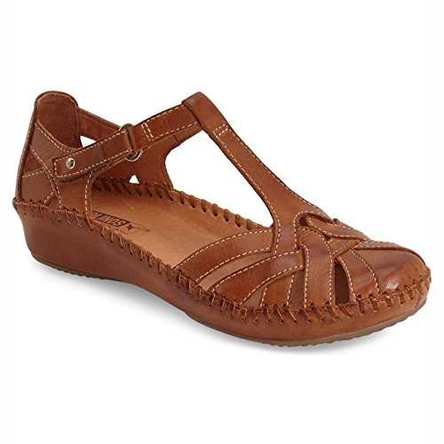 Pikolinos Womens Puerto Vallarta 655-0732C1 Leather Sandals Brandy