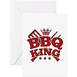 CafePress–BBQ King–Grußkarte, Note Karte, Geburtstagskarte, innen blanko, glänzend